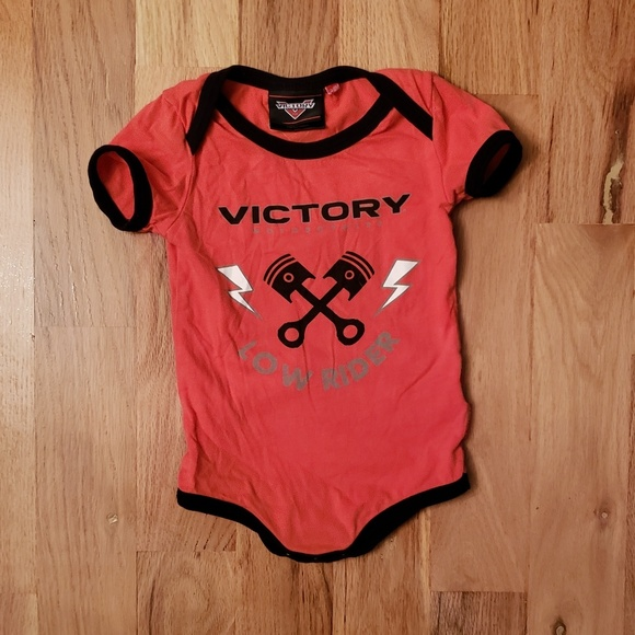 Baby Toddler Victory Motorcycle Logo Cotton One Pieces Jumpsuit